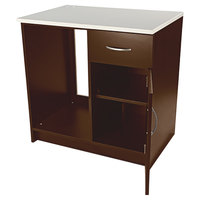 Alera Plus AAPBR105CY 36 inch x 24 inch x 36 inch Cherry Hospitality Base Cabinet with One Door and One Drawer