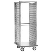 Cres Cor 208-1240-D Deluxe 38 Pan Aluminum Food Pan Roll-In Refrigerator Rack with Corrugated Perforated Sidewalls, Bumper, and Enclosed Base - Assembled