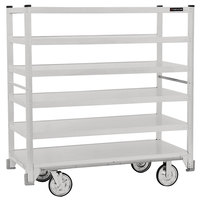 Cres Cor 271-61-5927-Z Correctional Queen Mary Banquet Service Cart with 6 Flat Shelves