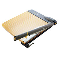 Westcott ACM15106 TrimAir 22 inch x 14 inch 30 Sheet Titanium Guillotine Paper Trimmer with Wood Base