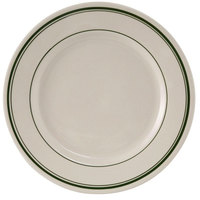 Tuxton TGB-031 Green Bay 6 1/4 inch Wide Rim Rolled Edge China Plate - 36/Case