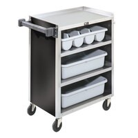 Vollrath 97180  4 Shelf Bussing Cart - 27 1/2 inch x 15 1/2 inch x 34 inch