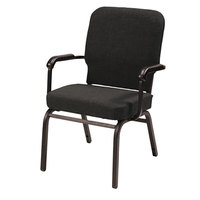 Alera ALEBT6510 Oversized Stackable Arm Chair with Black Fabric Back and Seat - 2/Case
