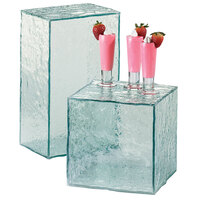 Cal-Mil 432-8-43 8 inch Glacier Acrylic Faux Glass Cube Riser