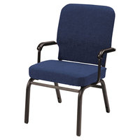 Alera ALEBT6520 Oversized Stackable Arm Chair with Navy Fabric Back and Seat - 2/Case