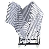 Alera ALEHDCART Black 20 7/8 inch x 22 1/2 inch High-Density Stacking Chair Cart