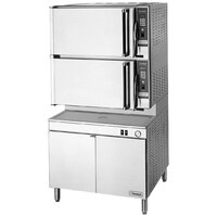 Cleveland 36-PCDM SteamPro XVI Direct Steam 16 Pan Pressure / Convection Floor Steamer with Boiler Base