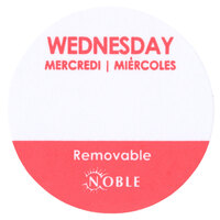 Noble Products Wednesday 1 inch Removable Day of the Week Dot Label - 1000 / Roll