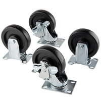 Vollrath 38099 4 inch Swivel Casters for Vollrath ServeWell Hot and Cold Food Tables - 4 / Set