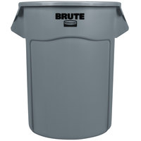 Rubbermaid BRUTE FG265500GRAY Gray 55 Gallon Trash Can