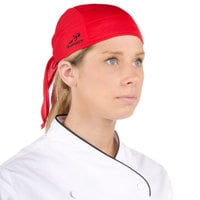 Headsweats 8800-803 Red Eventure Fabric Adjustable Chef Bandana / Do Rag