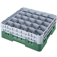 Cambro 25S1058119 Camrack 11 inch High Sherwood Green 25 Compartment Glass Rack