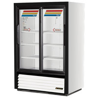True GDM-33SSL-54-LD Low Profile Narrow Sliding Glass Door Refrigerated Merchandiser - 11 Cu. Ft.