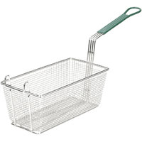 13 inch x 6 1/2 inch x 5 1/4 inch Fryer Basket with Front Hook