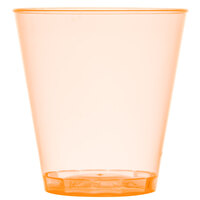 Fineline Quenchers 402-ORG 2 oz. Neon Orange Hard Plastic Shot Cup - 2500/Case
