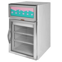 Beverage-Air CR5-1S-G Stainless Steel Countertop Display Refrigerator with Swing Door - 5 cu. ft.