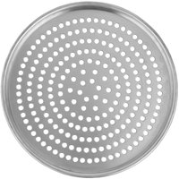 American Metalcraft HA2008SP 8 inch x 1/2 inch Super Perforated Heavy Weight Aluminum Tapered / Nesting Pizza Pan