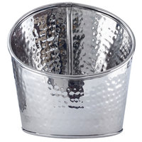 American Metalcraft HMSR7 7 inch Hammered Stainless Steel Angled Beverage Tub