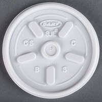 Dart Solo 8JL White Vented Lid - 1000/Case
