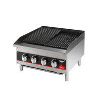 Vollrath 407302 Cayenne 24 inch Medium Duty Charbroiler - 80,000 BTU