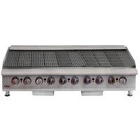 APW Wyott HCB-2460i Liquid Propane 60 inch HD Cookline Radiant Charbroiler - 200,000 BTU
