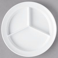Carlisle KL20302 Kingline 8 3/4 inch White 3-Compartment Plate - 12/Case