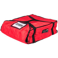 Rubbermaid 9F37 ProServe 21 1/2 inch x 19 3/4 inch x 7 3/4 inch Red Insulated Large Nylon Pizza Delivery Bag