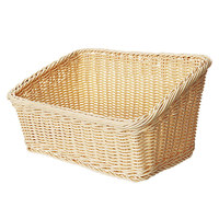 GET WB-1510-N Designer Polyweave Plastic Cascading Basket - Natural 9 1/4 inch x 13 inch - 6 / Pack