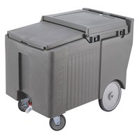 Cambro ICS175LB191 Granite Gray Sliding Lid Portable Ice Bin - 175 lb. Capacity