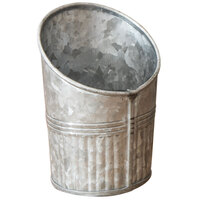 American Metalcraft GFC45 10 oz. Galvanized Metal Angled French Fry Cup