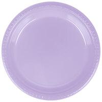Creative Converting 28193021 9 inch Luscious Lavender Plastic Dinner Plate - 240 / Case