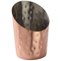 American Metalcraft FFCCH45 12 oz. Hammered Copper Angled French Fry Cup
