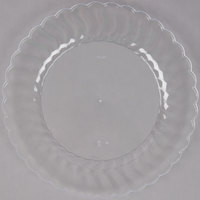 Fineline Flairware 210-CL 10 1/4 inch Clear Plastic Plate - 144 / Case