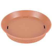 GET RB-894 7 1/4 inch Terracotta Round Plastic Fast Food Basket with Base - 12/Pack