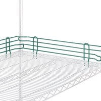 Metro L48N-4-DHG Super Erecta Hunter Green Stackable Ledge 48 inch x 4 inch