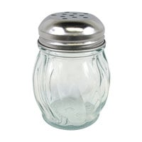 6 oz. Glass Cheese Shaker with Perforated Chrome Top - 3/Pack