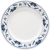 GET M-5080-B Water Lily 9 1/2 inch Melamine Plate - 12 / Pack