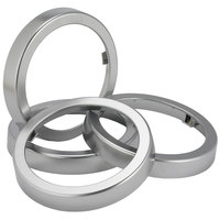 San Jamar C22XC EZ-Fit Metal Finish Rings - 2 / Pack