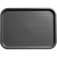 Carlisle CT121623 Customizable Cafe 12 inch x 16 inch Gray Standard Plastic Fast Food Tray - 24/Case