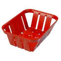 Carlisle 4403005 Stackable Red Munchie Basket 7 3/8 inch x 5 3/8 inch - 24/Case