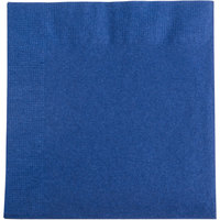 "Choice 10"" x 10"" Navy Blue 2-Ply Beverage / Cocktail Napkins - 250/Pack"