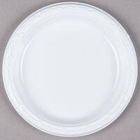 Genpak 70700 Aristocrat 7 inch White Heavy Plastic Plate - 1000 / Case