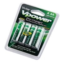 Vivitar AA 2100 mAh Ni-MH Rechargeable Batteries Four Pack