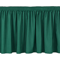 National Public Seating SS24-96 Green Shirred Stage Skirt for 24 inch Stage - 23 inch x 96 inch