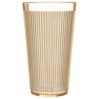Carlisle 403422 Crystalon Glo-Honey Yellow RimGlow Polycarbonate Tumbler 16 oz. - 48/Case