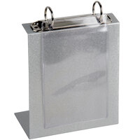 Menu Solutions TOPBPP Clear 2-Hole Page Protectors for Top Ring Menu Tents - 5 1/2 inch x 7 3/4 inch - 25 / Pack