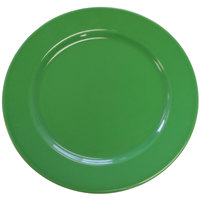 CAC CDE-16GRE Festiware Wide Rim Dinner Plate with Cord Edge 10 5/8 inch - Green - 12 / Case