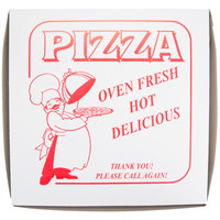 10 inch x 10 inch x 1 1/2 inch Clay Coated Pizza Box - 100/Bundle