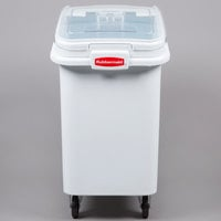 Rubbermaid FG360288WHT ProSave 26.2 Gallon Ingredient Storage Bin with 32 oz. Scoop