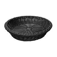 GET WB-1502-BK 11 1/2 inch x 2 3/4 inch Designer Polyweave Black Round Basket - 12/Case